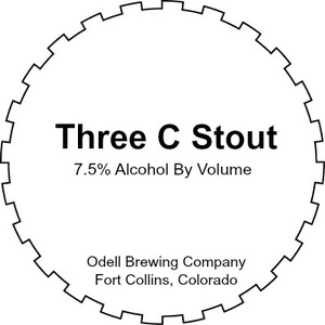 Odell Brewing Company Three C Stout