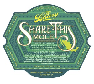 The Bruery Share This: Mole
