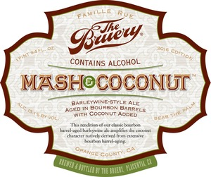 The Bruery Mash & Coconut (2016)