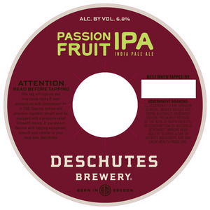 Deschutes Brewery Passionfruit