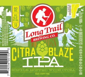 Long Trail Brewing Company Citra Blaze IPA