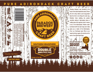 Paradox Brewery Southern Hemisphere Double India Pale Al