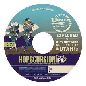 Uinta Brewing Company Hopscursion Brett IPA