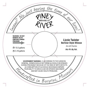 Piney River Brewing Co. Lizzie Twister