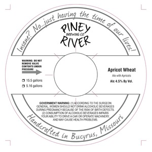 Piney River Brewing Co. Apricot Wheat