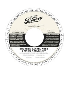 The Bruery Barrel Aged 8 Maids-a-milking