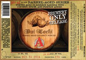 Avery Brewing Co. Dui Cochi Barrel-aged Coconut Porter