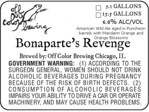 Off Color Brewing Bonaparte's Revenge