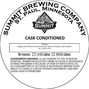 Summit Brewing Company Wit Bier