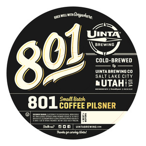 Uinta Brewing Company 801 Coffee Pilsner