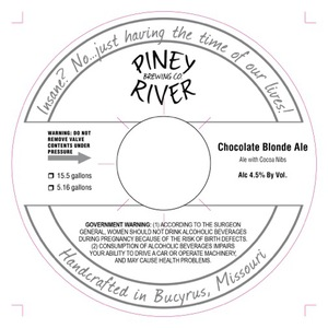 Piney River Brewing Co. Chocolate Blonde