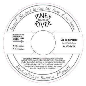 Piney River Brewing Co. Old Tom