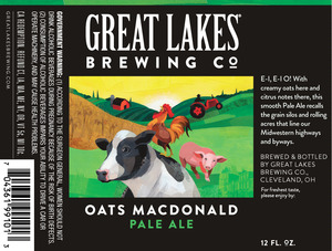 The Great Lakes Brewing Co. Oats Macdonald