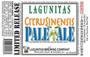 The Lagunitas Brewing Company Citrusinensis Pale November 2016