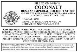 Highland Brewing Co. Coconaut