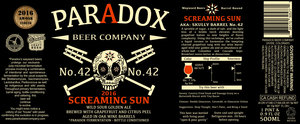 Paradox Beer Company Screaming Sun
