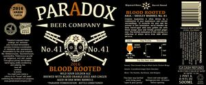 Paradox Beer Company Blood Rooted