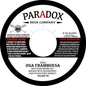 Paradox Beer Company Osa Frambuesa