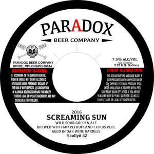Paradox Beer Company Screaming S Un