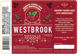 Westbrook Brewing Company Cabernet Barrel-aged Fifth Anniversary