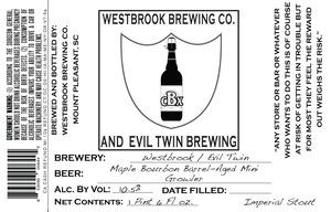 Westbrook Brewing Company Maple Bourbon Barrel-aged Mini Growler