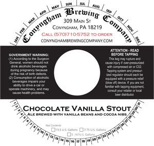 Conyngham Brewing Company Chocolate Vanilla Stout
