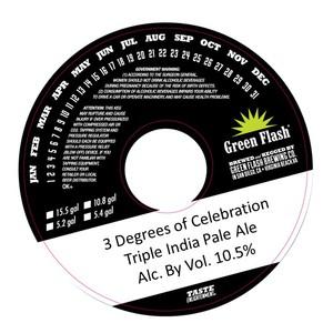Green Flash Brewing Company 3 Degree Of Celebration