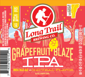 Long Trail Brewing Company Grapefruit Blaze IPA