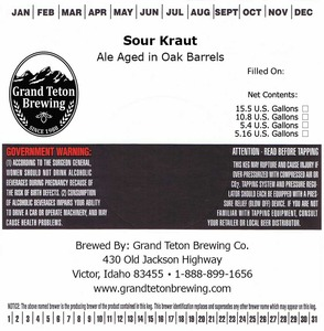 Grand Teton Brewing Sour Kraut