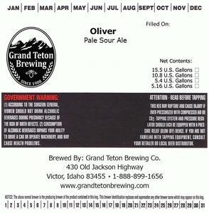 Grand Teton Brewing Oliver Pale Sour