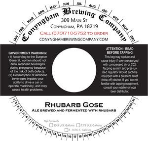 Conyngham Brewing Company Rhubarb Gose