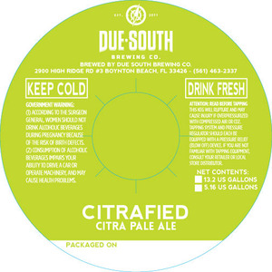 Due South Brewing Co. Citrafied