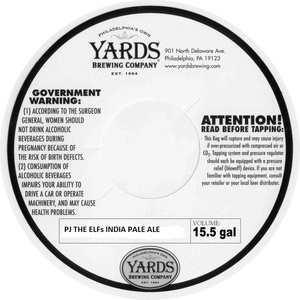 Yards Brewing Company Pj The Elfs India Pale Ale