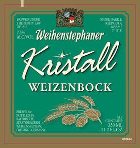 Weihenstephaner Kristall Weizenbock
