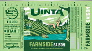 Uinta Brewing Company Farmside Saison