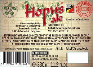 Lefebvre Hopus Ale