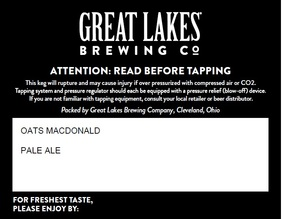 The Great Lakes Brewing Company Oats Macdonald