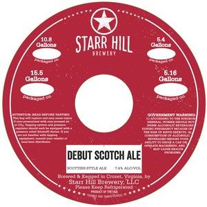 Starr Hill Debut Scotch Ale