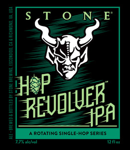 Stone Hop Revolver Ipa November 2016