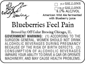 Off Color Brewing Blueberries Feel Pain