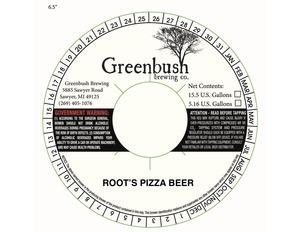 Root's Pizza Beer American Pub Ale Brewed W/ Honey