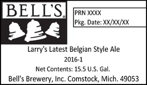 Bell's Larry's Latest Belgian Style Ale