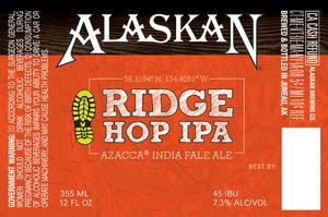 Alaskan Ridge Hop IPA December 2016