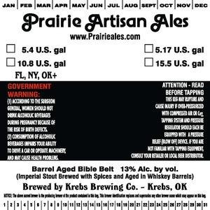 Prairie Artisan Ales Barrel Aged Bible Belt