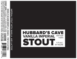 Hubbard's Cave Vanilla Imperial Stout