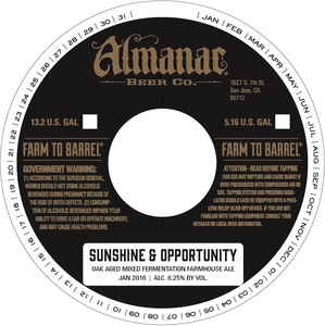 Almanac Beer Co. Sunshine & Opportunity