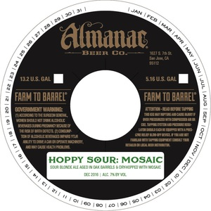 Almanac Beer Co. Hoppy Sour Mosaic