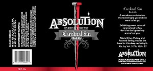Absolution Brewing Company Cardinal Sin Red Ale
