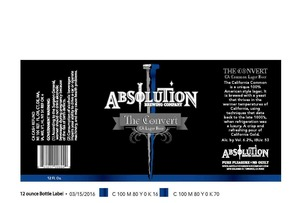 Absolution Brewing Company The Convert Ca Lager Beer