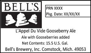 Bell's L'appel Du Vide Gooseberry Ale